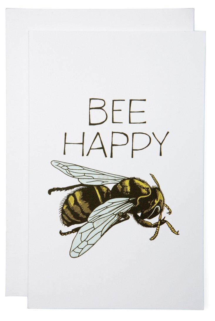 S/6 Bee Happy Cards