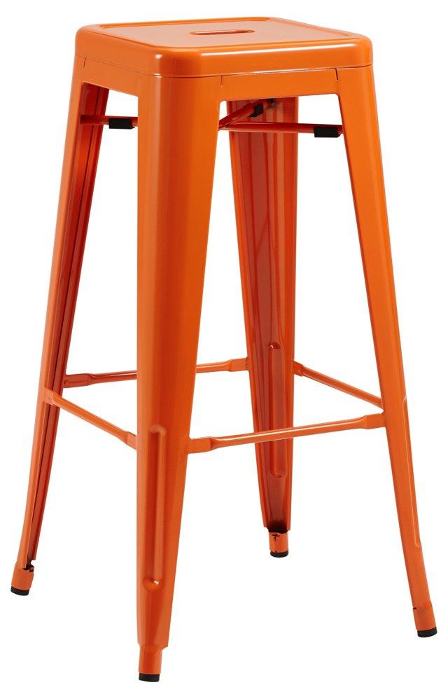 Orange Libby Barstool