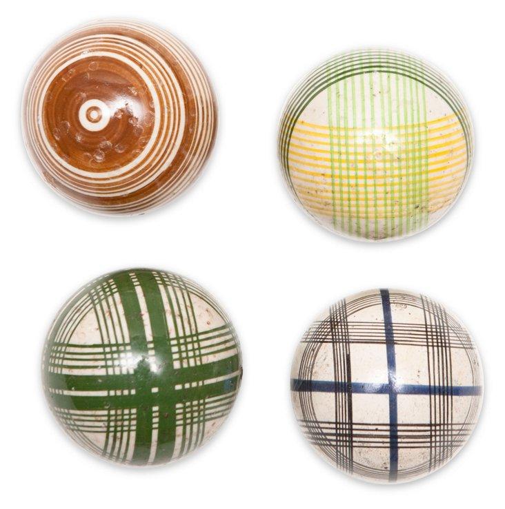 Medium Victorian Carpet Balls, S/4, II
