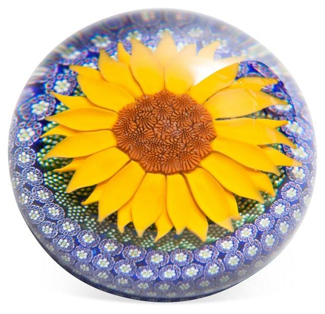 Saint-Louis Sunflower Paperweight