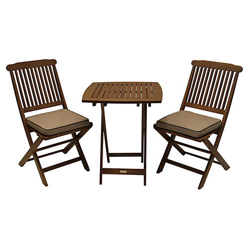 Langley 3-Pc Bistro Set, Beige