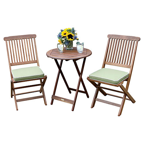 Longley 3-Pc Bistro Set, Sage