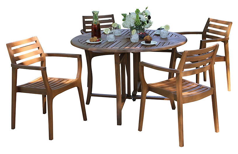 Marco 5 piece dining set outdoor furniture furniture for One kings lane outdoor furniture