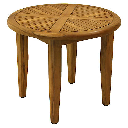 Brazilian Teak Side Table, Natural