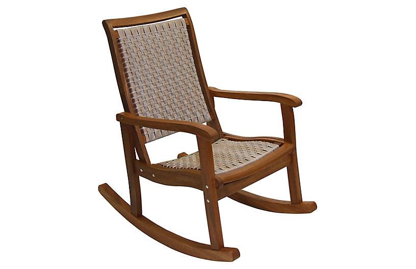Eucalyptus Rocking Chair, Gray