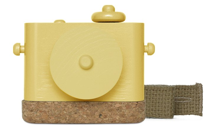 Pixie Wooden Camera, Yellow