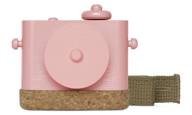 Pixie Wooden Camera, Pink