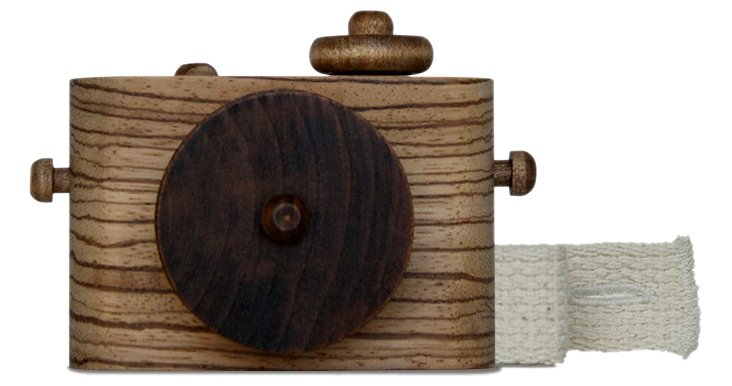 Pixie Wooden Camera, Zebrawood