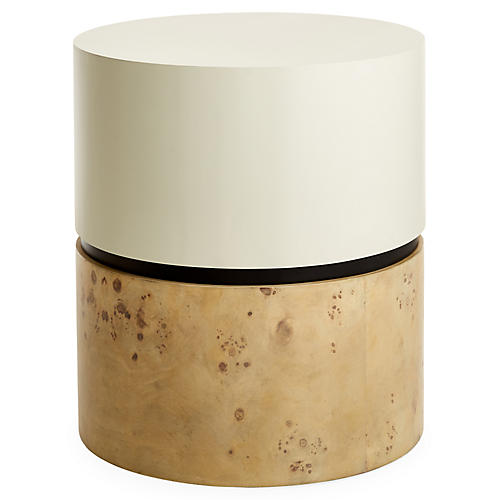 Grounded Side Table, White