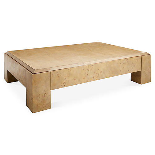 Block Coffee Table, Faded Burl