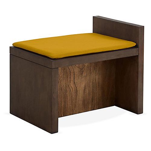 Together Bench, Citrine/Natural