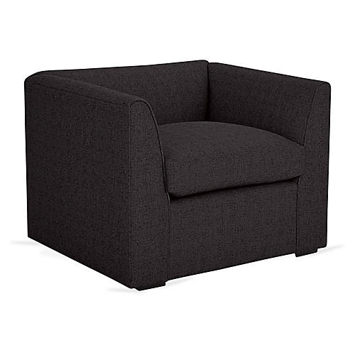 Charmer Club Chair, Black