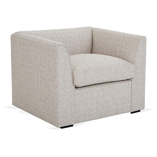 Charmer Club Chair, Light Gray