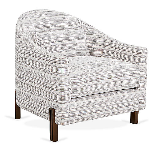 Brute Club Chair, Gray/White