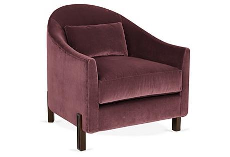 Brute Club Chair, Orchid Dusk Velvet
