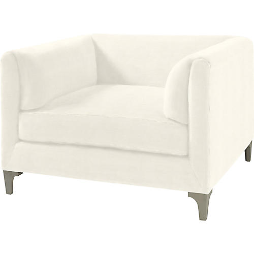 Beau Club Chair, White