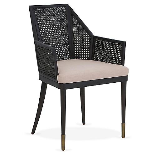 Cane Armchair, Lilac