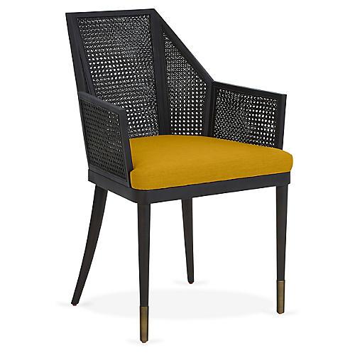 Cane Armchair, Citrine