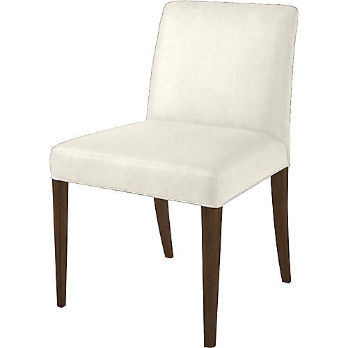 Slip Side Chair, Oyster/Natural