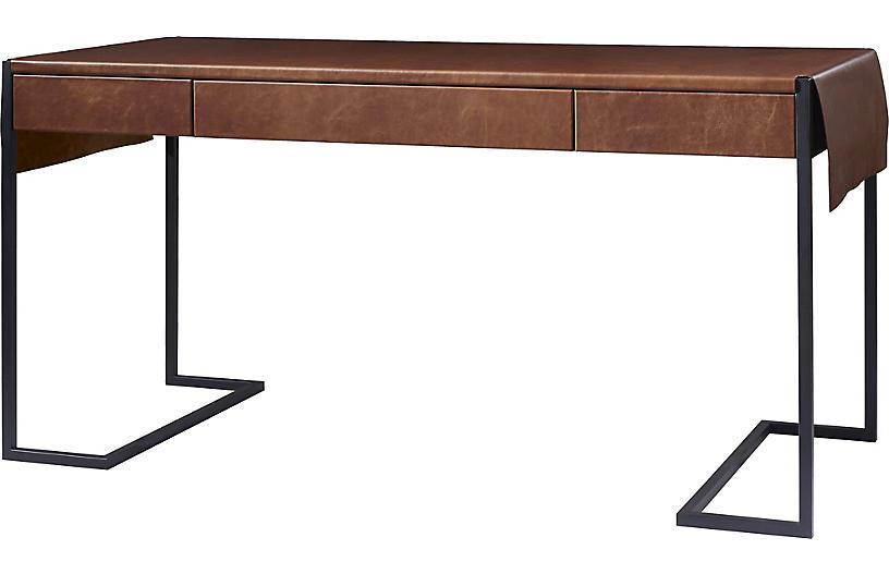 Straight-Up Desk - Saddle
