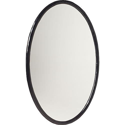 "Loop 30""x46"" Mirror, Black"