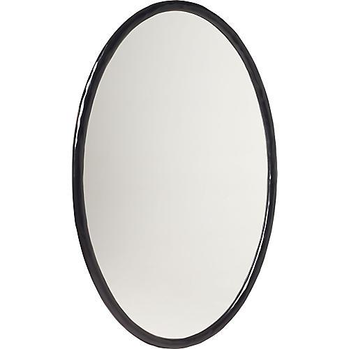 """Loop 30""""x46"""" Mirror, Black"""
