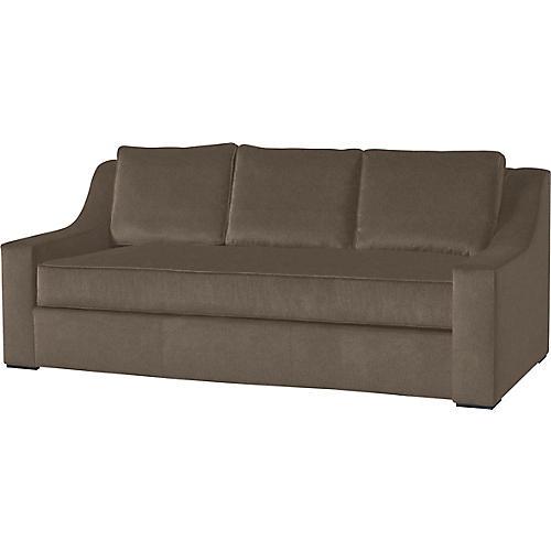 "Lax 84"" Linen Sofa, Java"