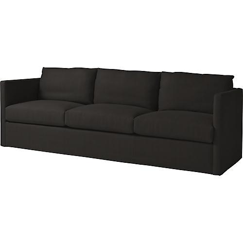 """Steady 95"""" Sofa, Noir Black"""