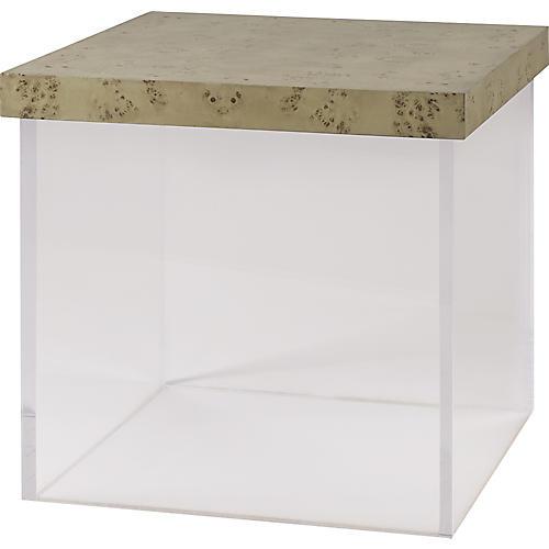 Float Side Table, Faded Burl