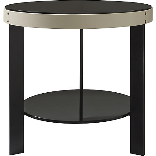 Halo Side Table, White