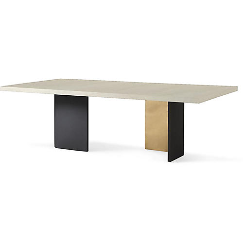 "Liquid 96"" Dining Table, White"