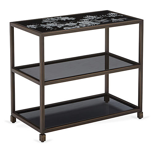 Minimum Chinoiserie Console, Black