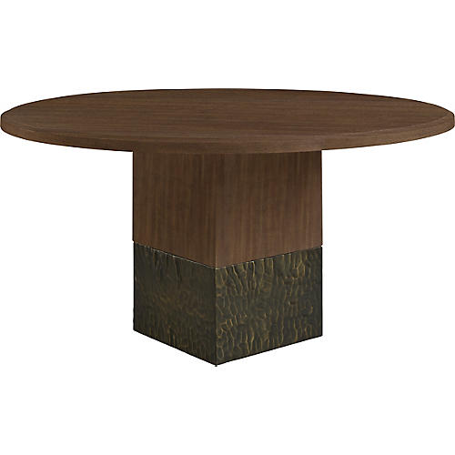 "Solid 60"" Dining Table, Natural"