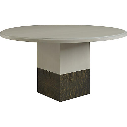 """Solid 60"""" Dining Table, White"""