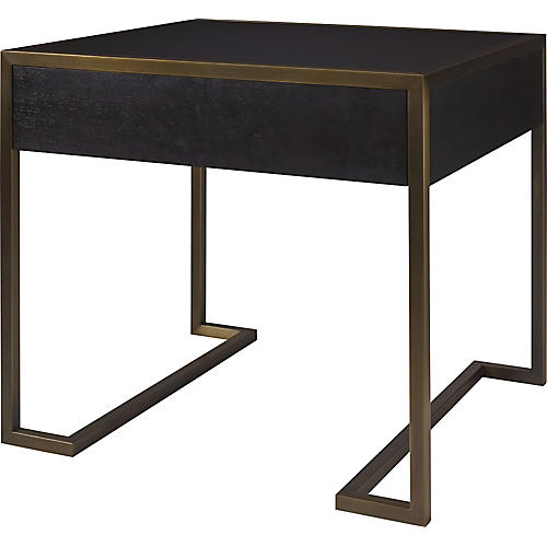 Straight-Up Nightstand, Blackened Walnut