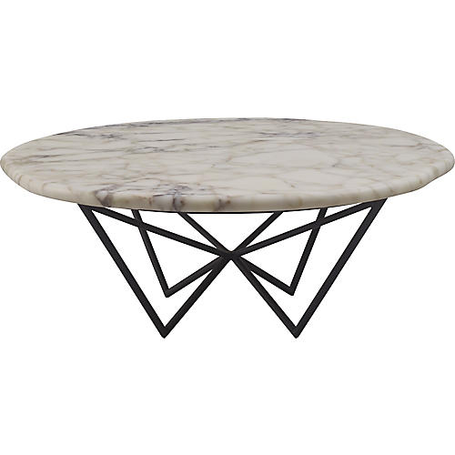 Tumble Coffee Table, White
