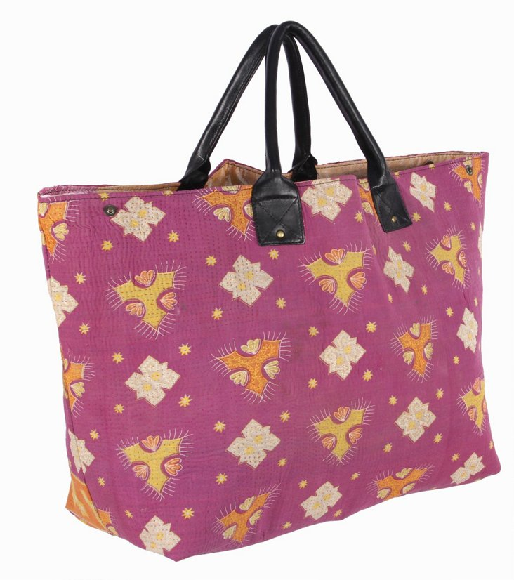 Kantha Tote Bag  Tallulah