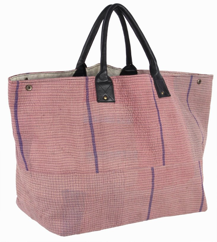 Kantha Tote Bag,  Honey