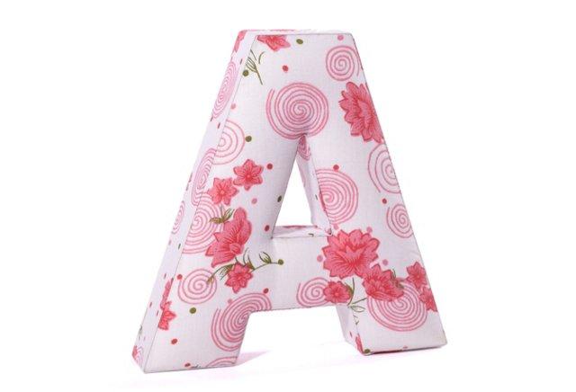 Girls Soft Fabric Letter