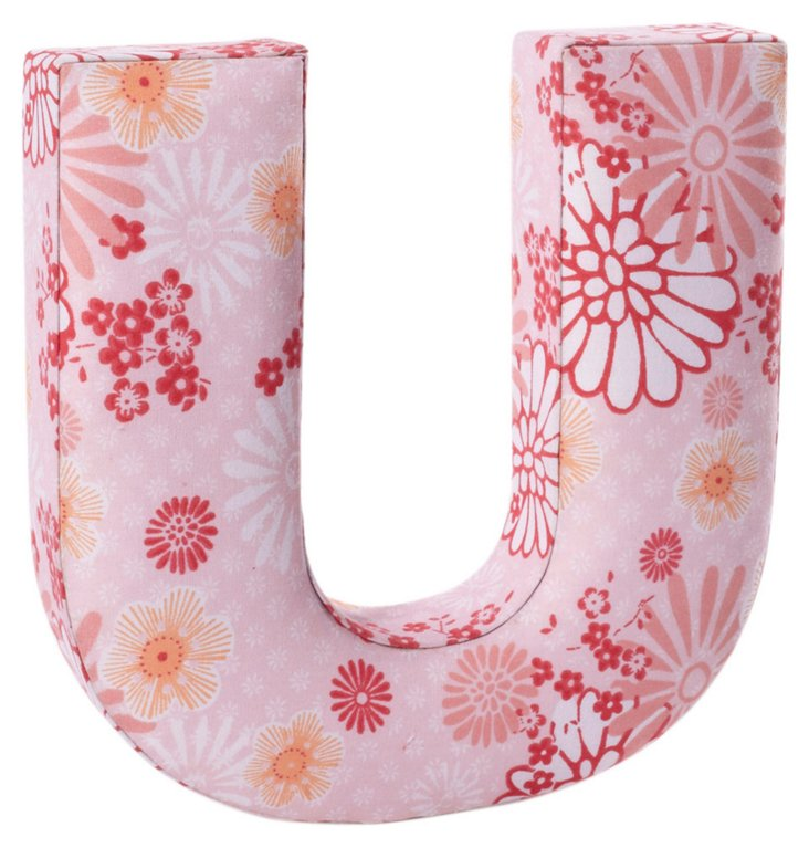 "Fabric Letter ""U"", Power Pink"