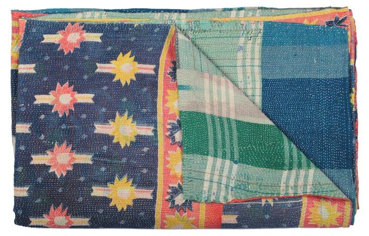 Hand-Stitched Kantha Throw, Mueda