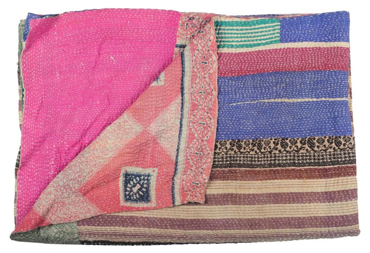 Hand-Stitched Kantha Throw, India