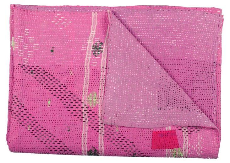 Hand-Stitched Kantha Throw, Teji