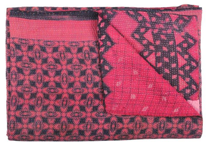 Hand-Stitched Kantha Throw, Nidhi