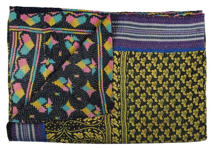 Hand-Stitched Kantha Throw, Deeba