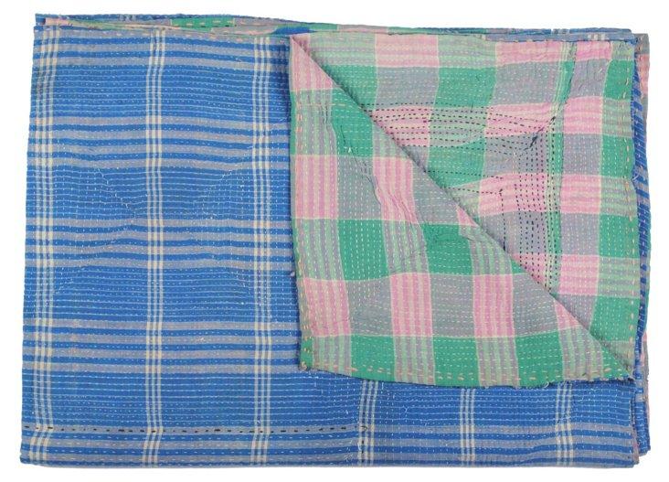 Hand-Stitched Kantha Throw, Jmaat