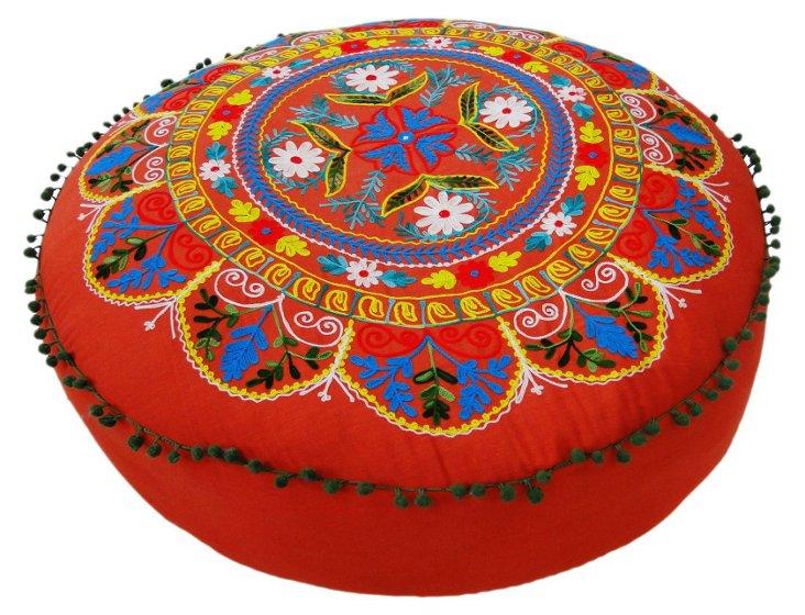 Lee Floor Cushion, Tomato/Multi