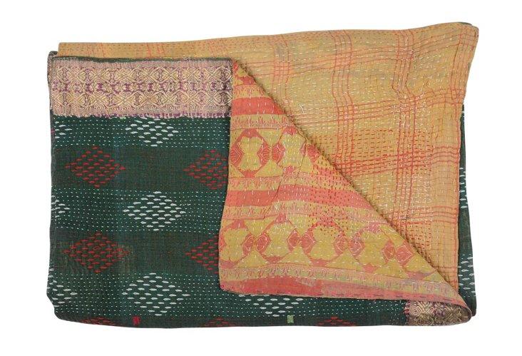 Hand-Stitched Kantha Throw, Niverta