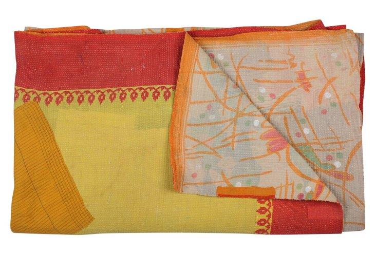 Hand-Stitched Kantha Throw, Amanda