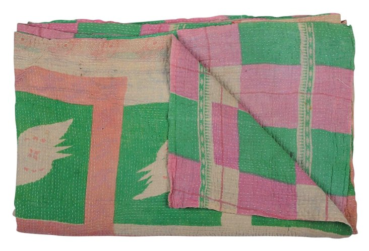Hand-Stitched Kantha Throw, Jennifer